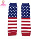 4th Of July Leg Warmers Knitted Pattern American USA Patriotic Flag Stripes & Stars Baby Toddler Leg Warmers