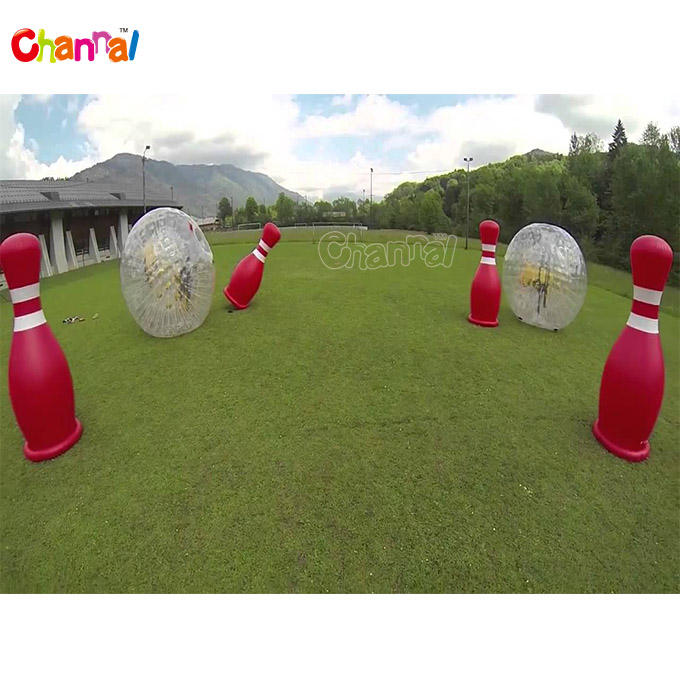 Outdoor inflatable sport games inflatable bowling human zorb ball games