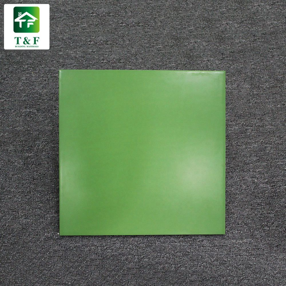 12x12 30x30 modern polished square tile pure green color glazed polished ceramic green porcelain tile