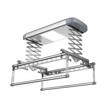 electric metal ceiling aluminium mounted hanging clothes drying rack with LED light