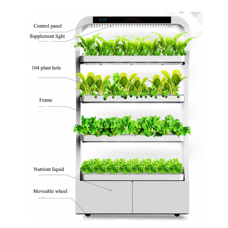 2018 Shenzhen 4 tier rack full spectrum indoor vertical hydroponic growing systems greenhouse for lettuce leafy plants