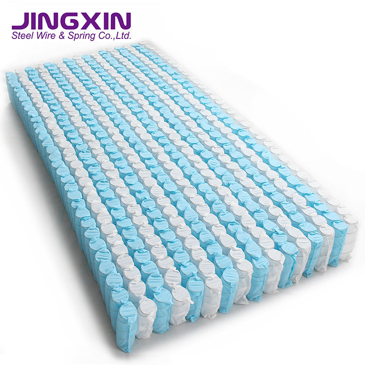 Pillow Top Mattress Pocketed Spring Sleep Well Roll Up Pocket Springs