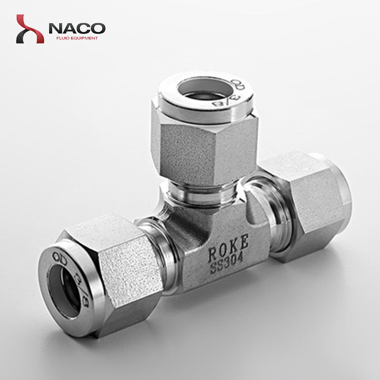 Swagelock Type Hydraulic Equal Tee 3 Way Tube Fittings