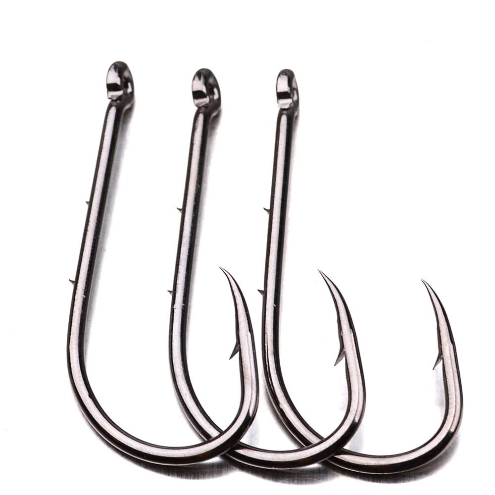 Proberos 100pcs/Bag Carbon Steel Tuna Hook Circle Hook