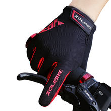ZL2320 Special Sports Bicycle Accessories Pad Touch Screen Full Finger Shockproof Gloves Bike Bicycle Gloves
