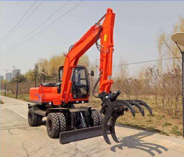 China Small wheel excavator manufacturer with best pprice