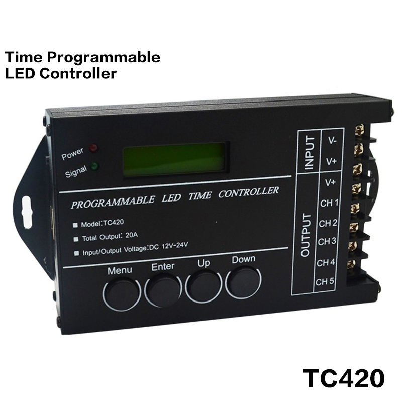 5channel max5*4A DC12-24V input TC421 WiFi time programmable led controller tc420 dimmer rgb aquarium lighting timer