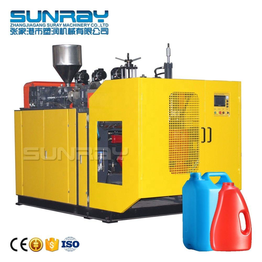 Single Station Jerry can blow molding machine 5 ltr HDPE Plastic extrusion PE bottle blowing machine
