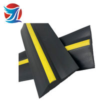 extruded rubber  black with yellow garage door weatherseal  threshold