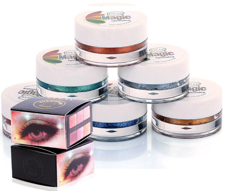 14 Warna Duochrome Cair Single Cream Kosmetik Makeup Glitter Eyeshadow Stabilo Pigmen Palet