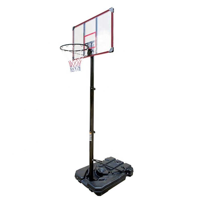 Wholesale portable basketball stand acrylic backboard adjustable basketball hoop stand for sale