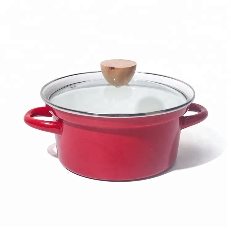 Cast iron and 0.6mm metal Enamelware Cooking Soup Pot