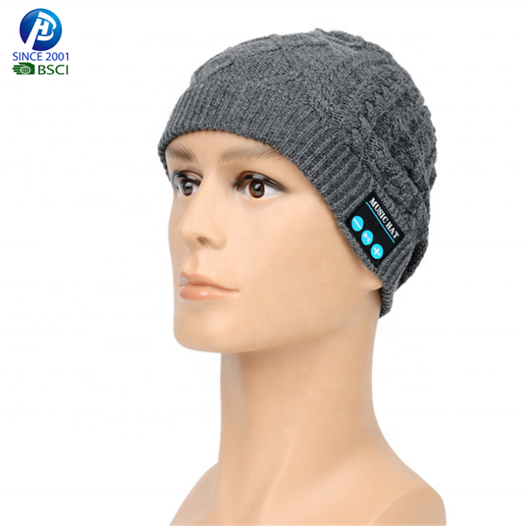 Music 100% Acrylic Bluetooth Beanie With Headphone mobile cap knitting hat