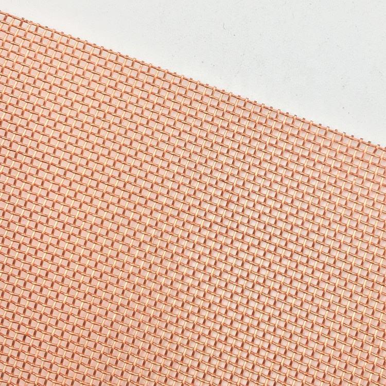 Ultra fine 300 200 mesh 250 mesh red copper wire mesh fabric for emf shielding
