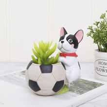 Roogo Mini Animal Succulent Plant Pot Cute dogs Flower Planter Flowerpot Creative Design Home Decor Bonsai Pots