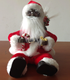 Battery Operated Christmas Gift Play Musical Shining and Sitting Santa for Gifts Plush Doll