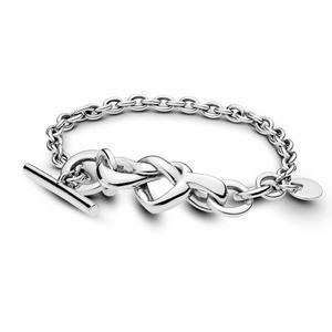 Slovehoony 2019 new arrivals 925 Sterling Silver Knotted Heart Bracelet Joyeria pulsera 598100