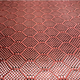 Red hexagon Carbon kevlar fabric