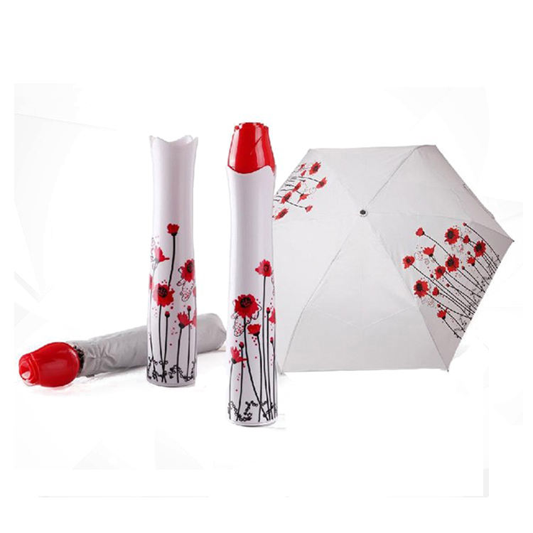 Latest design rose shape bottle umbrella