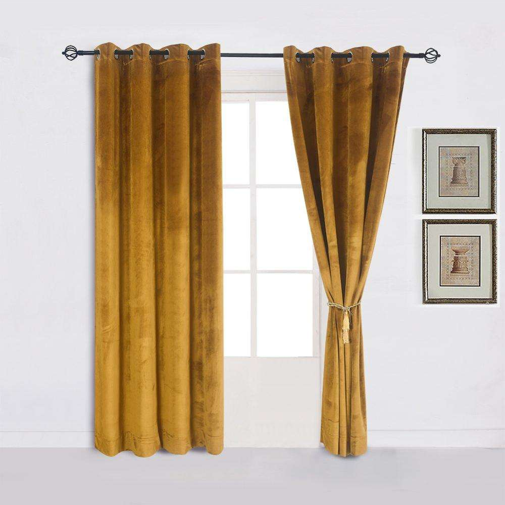Wholesale Curtain Decoration Hotel Dining Room Plain Velvet Blackout Curtain