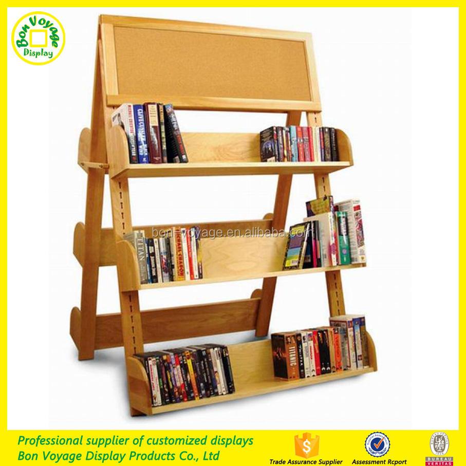 Librairie double face en bois plancher <span class=keywords><strong>affichage</strong></span> <span class=keywords><strong>plateau</strong></span>