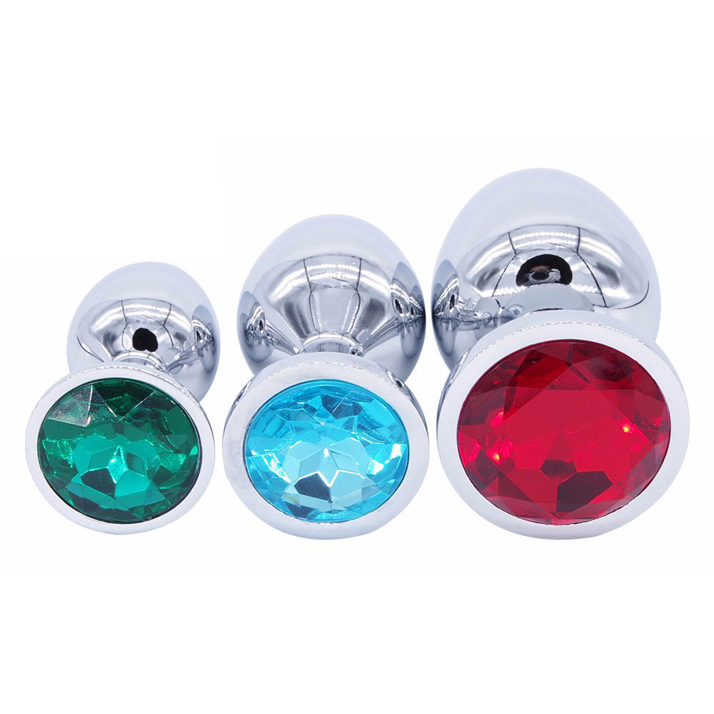 UK New Crystal Backyard Plugs Funny Mans Womens Anchor Anal Stopper Metal Insert
