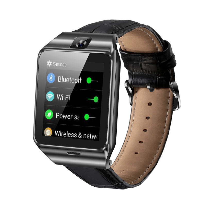 China manufacturer Leather band 3G Android Smart Watch with SIM WiFi GPS