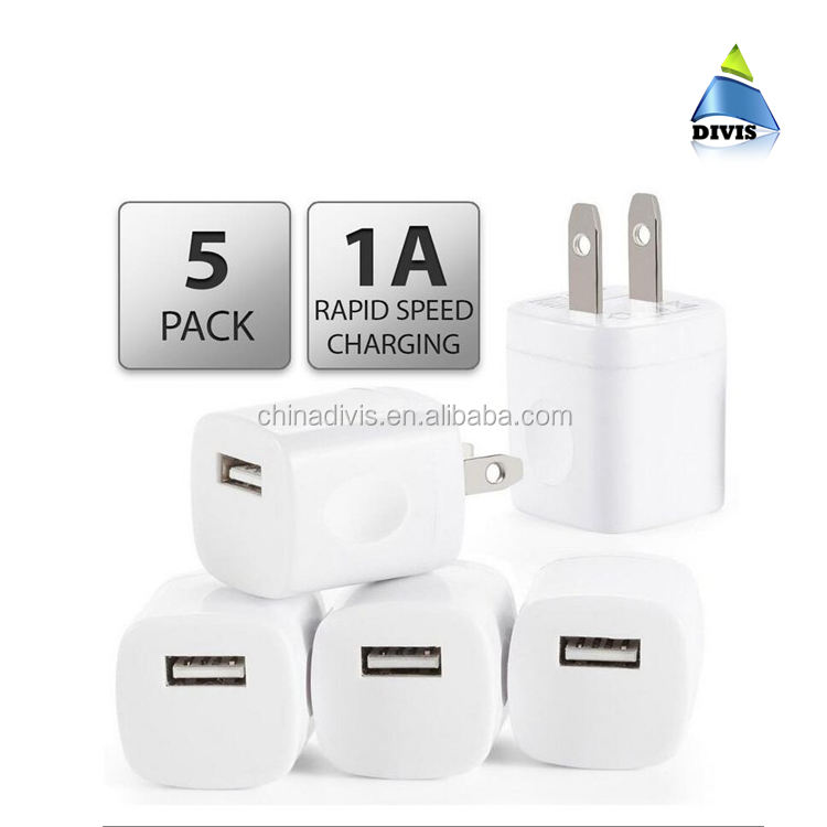 5v 1a usb wall charger travel charger with single port for iPhone charger phone us plug