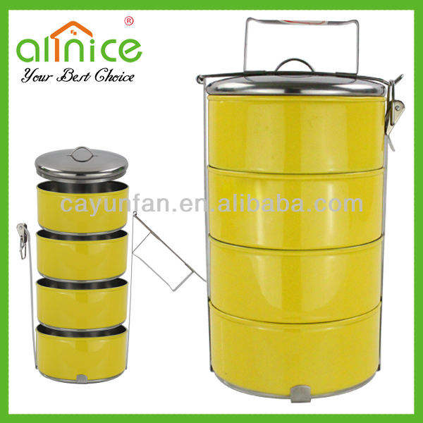 4Layer Colored Steel Hot Food Container/Tiffin Carrier/Food Pot