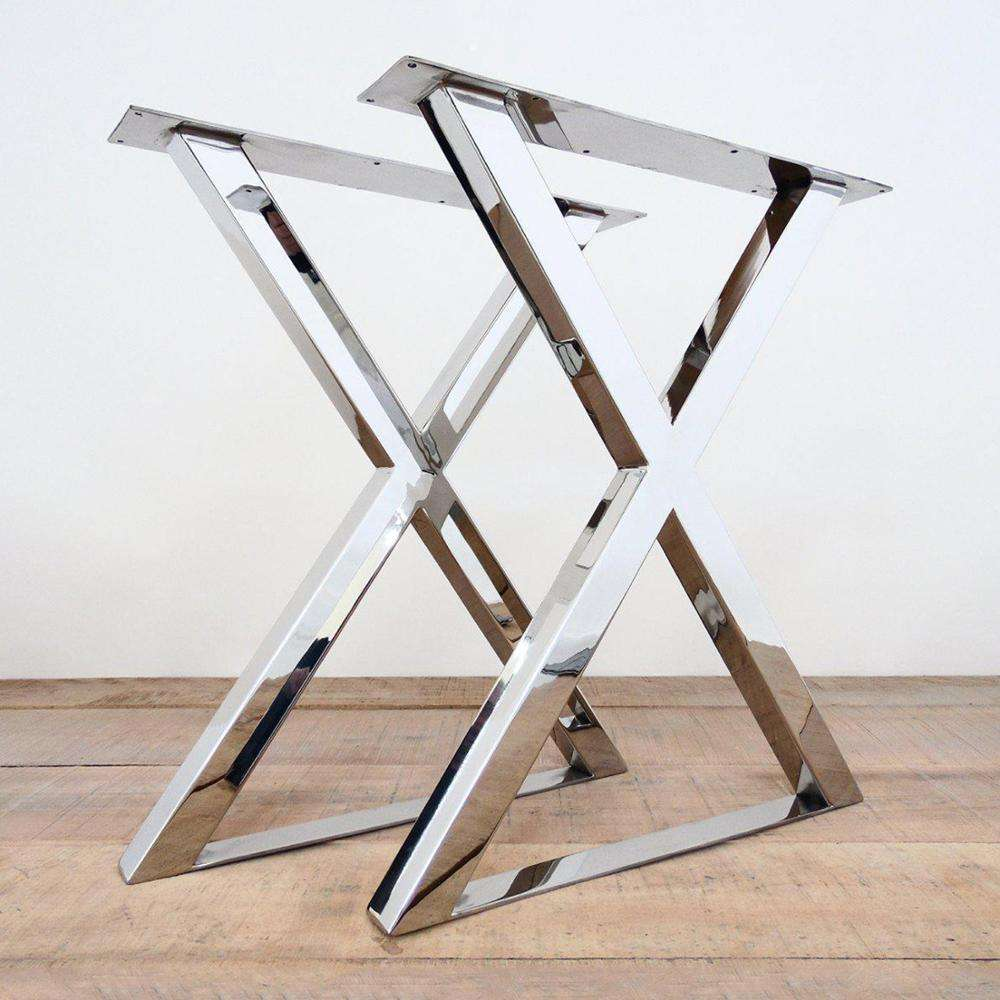 Customer made metal u shaped x shaped square trapezoid stainless steel furniture table legs,table base,table frame