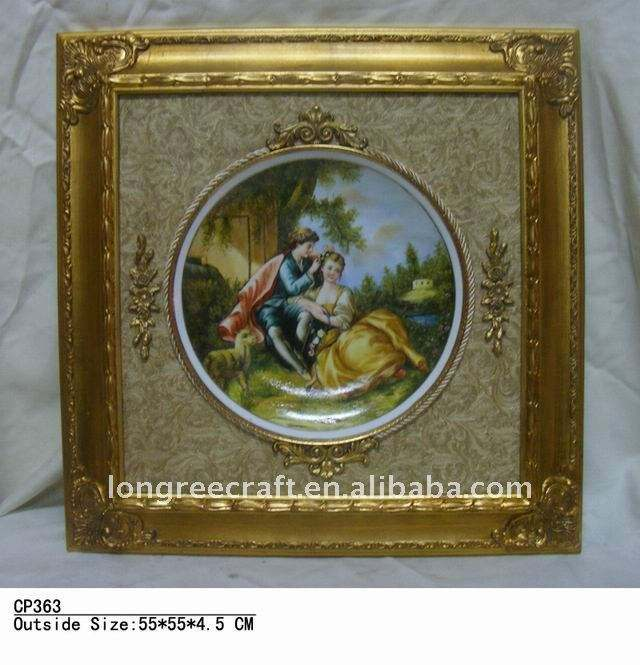 High Quality Cheap Price Golden Reproduction Framed Oil Paintings