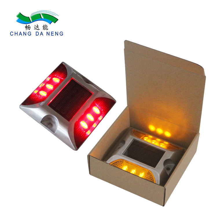 Blinking led light driveway solar traffic road stud / raised pavement marker price