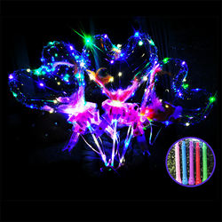 2019 Hot Selling plastic bobo ball inflatable led lights helium balloon for Party PVC transparent LED bubble bobo