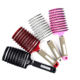 Anti-static Heat-resistant Curved Vent Boar Bristle detangling hair brush Massage Combs for Pro Hair Salon Barber Hair Styling
