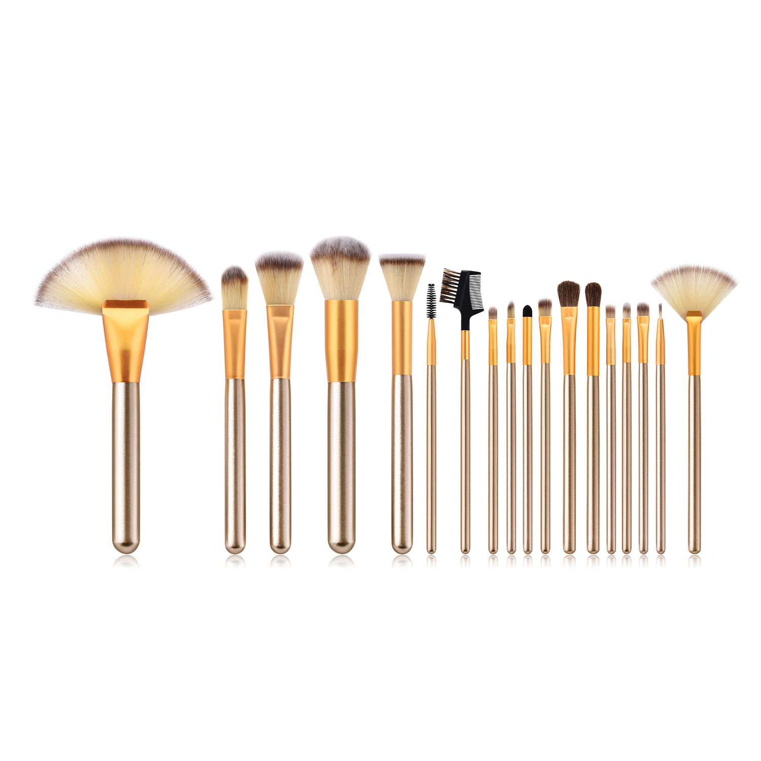18Pcs Soft Make Up Brushes Tools Cosmetic Beauty Foundation Professional Fan Makeup Brush Set
