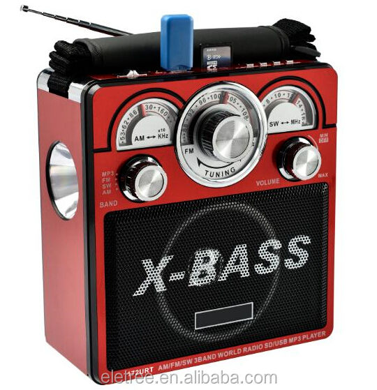 X-BASS 3 band am fm sw радио EL-172URT