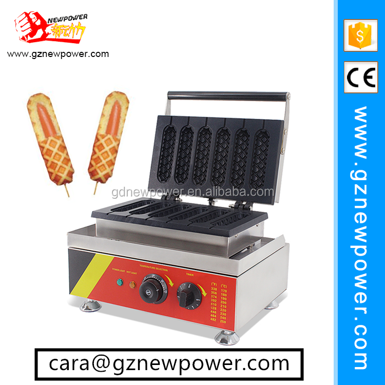 2017 new automatic corn dog waffle maker /hot dog machine /waffle hot dog