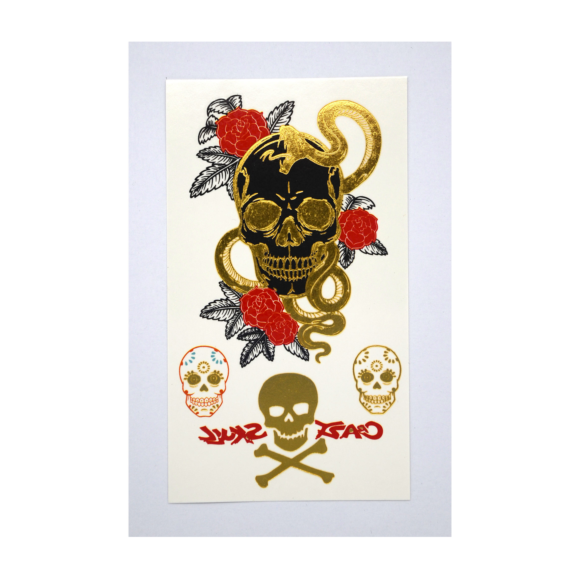 Gouden Metallic Tijdelijke Tattoo Sticker kleine body Tattoo in High definition printing