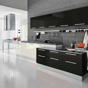 Affordable precut modern metal kitchen cabinet sale