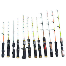 Wholesale Factory supply cheap fishing tackle solid fiberglass spinning rod oem ice short   fishing rod