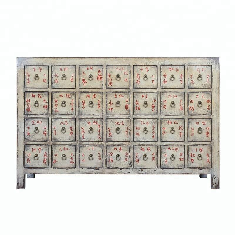 beijing Chinese antique medicine cabinet wood distressed furniture