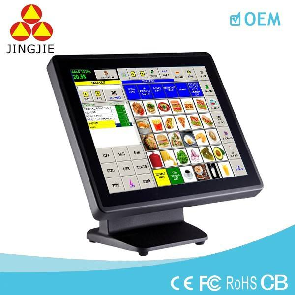 15 ''Touch Screen LED Ristorante POS Sistema con un Design Sottile JJ-