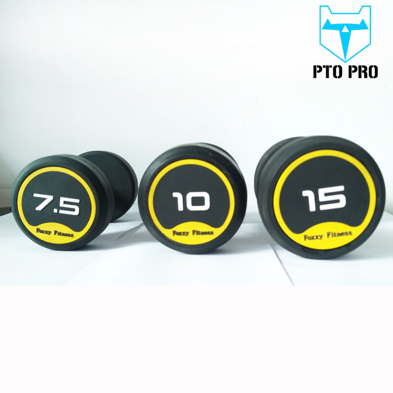 colorful equipment rubber dumbbells weight set