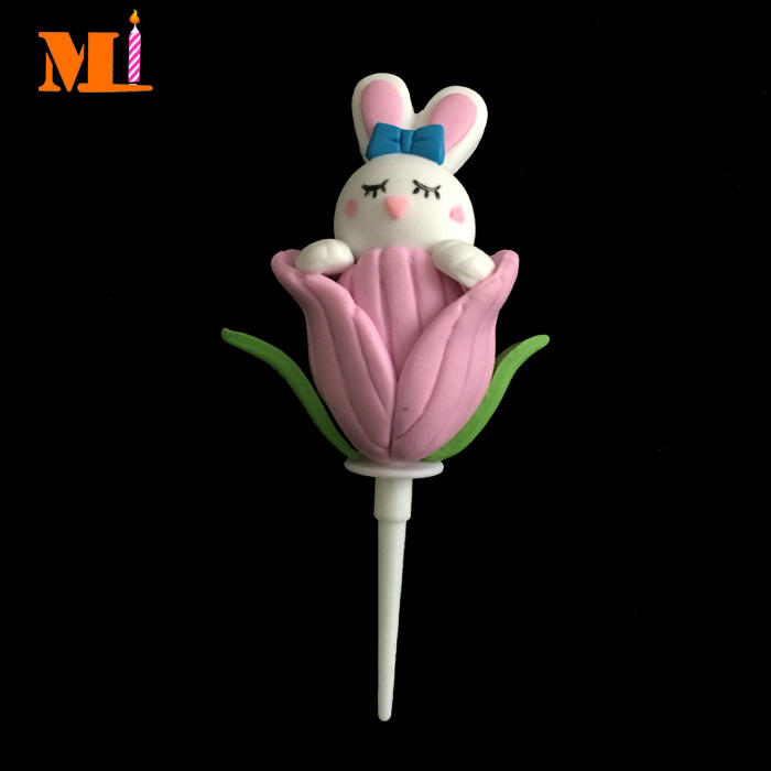 Stable Quality Cake Decoration Handmade Cute Easter Bunny <span class=keywords><strong>Polymer</strong></span> Clay