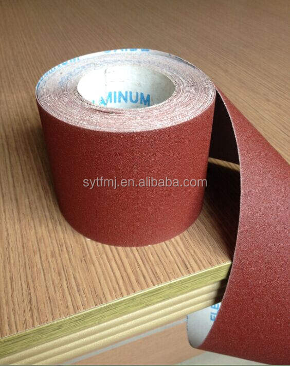 Top quality free sample grit 60 Emery Cloth Sand Paper Roll, abrasive paper rolls,abrasive cloth roll