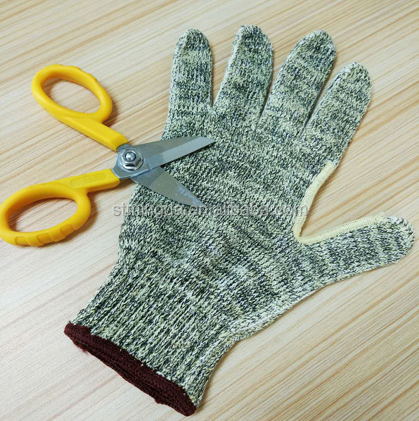 ANSI A4 cut resistant gloves aramid gloves