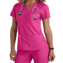 Factory Supply Fashionable V Neck Medical Scrubs Wholesale With Different Colors