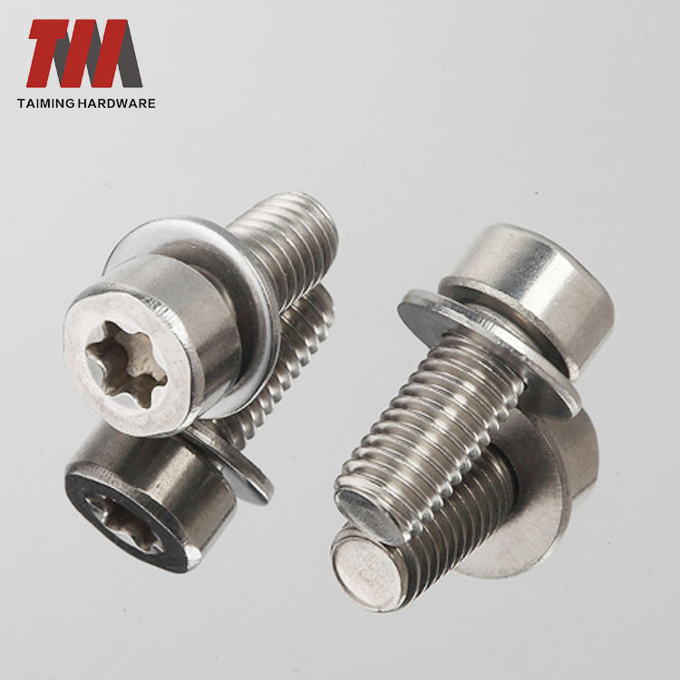 High Quality Stainless Steel Sems Screw M2 Torx Screw With Washer