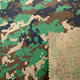 Vat dye green camouflage print cotton nylon blend fabric