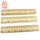 Wholesale and custom Eco-friendly wooden ruler, cheap 15 cm or 6 inch wood ruler in bulk for school & office